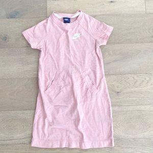 Nike girls pink dress small